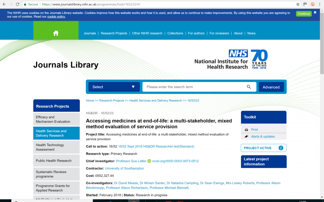 For Community & GP Pharmacist members – invitation to participate in NIHR study survey